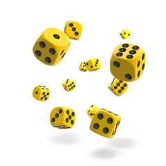 Oakie Doakie Dice - D6 Solid Yellow 12mm Set of 36 (ODD400029)