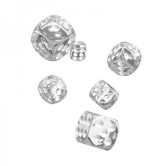 Oakie Doakie Dice - D6 Translucent Clear 16mm Set of 12 (ODD410015)
