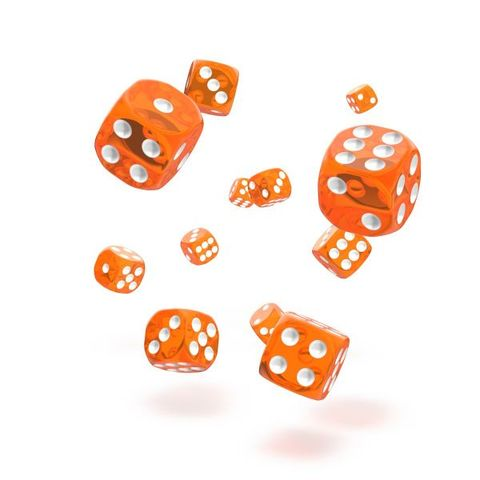 Oakie Doakie Dice - D6 Translucent Orange 12mm Set of 36