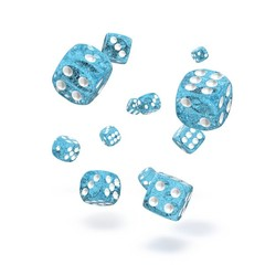 Oakie Doakie Dice - D6 Speckled Light Blue 12mm Set of 36