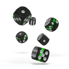 Oakie Doakie Dice - D6 Enclave Emerald 16mm Set of 12