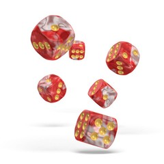 Oakie Doakie Dice - D6 Gemidice Red Sky 16mm Set of 12