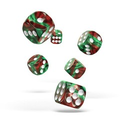 Oakie Doakie Dice - D6 Gemidice Bloody Jungle 16mm Set of 12