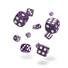Oakie Doakie Dice - D6 Marble Purple 12mm Set of 36 (ODD400007)