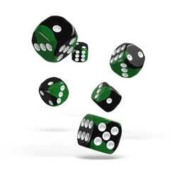 Oakie Doakie Dice - D6 Glow in the Biohazard 16mm Set of 12 (ODD410044)