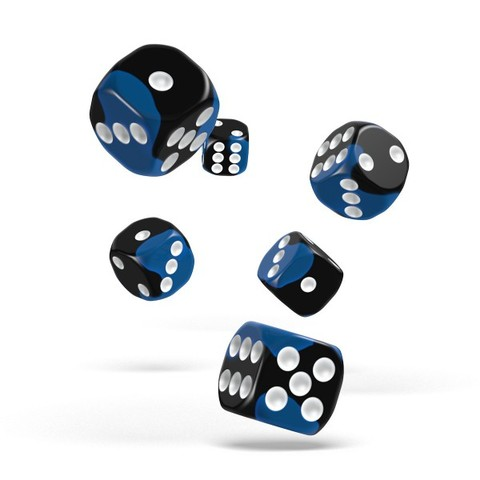 Oakie Doakie Dice - D6 Glow in the Deep Ocean 16mm Set of 12 (ODD410046)