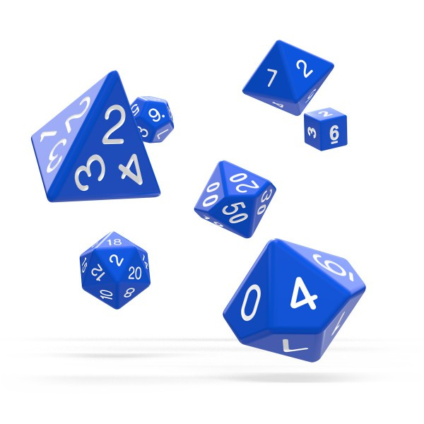 Oakie Doakie Dice - RPG-Set Solid Blue