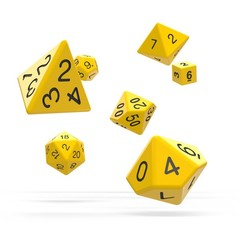 Oakie Doakie Dice - RPG-Set Solid Yellow