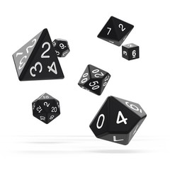 Oakie Doakie Dice - RPG-Set Solid Black
