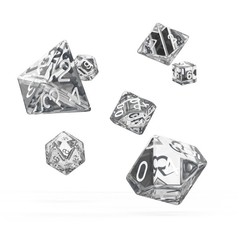 Oakie Doakie Dice - RPG-Set Translucent Clear