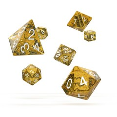Oakie Doakie Dice - RPG-Set Speckled Orange