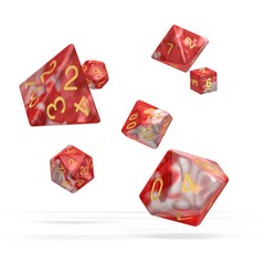 Oakie Doakie Dice - RPG-Set Gemidice Red Sky
