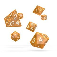 Oakie Doakie Dice - RPG-Set Marble Orange