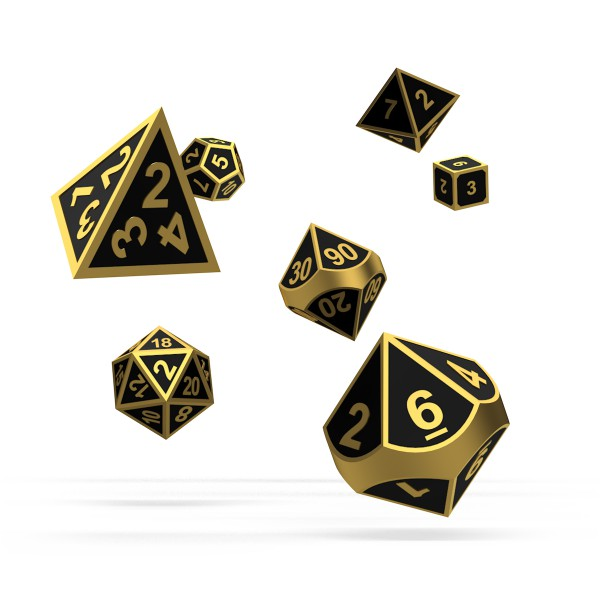 Oakie Doakie Dice - RPG-Set Metal Alchemy Gold