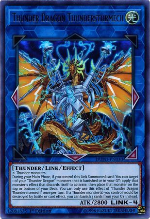 Thunder Dragon Thunderstormech - DUPO-EN030 - Ultra Rare - 1st Edition