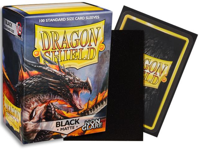 Dragon Shield Non-Glare Sleeves - Matte Black