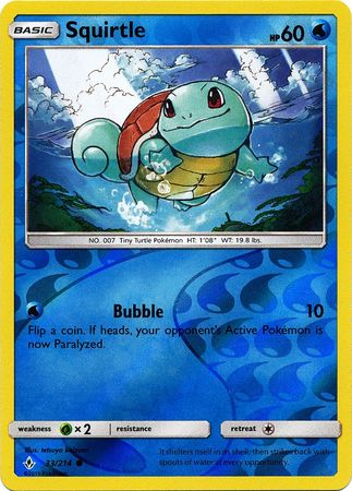 Squirtle - 33/214 - Common - Reverse Holo
