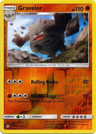 Graveler - 88/214 - Uncommon - Reverse Holo