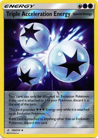 Triple Acceleration Energy - 190/214 - Uncommon - Reverse Holo