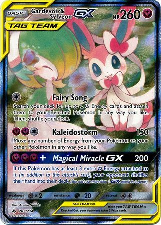 Gardevoir & Sylveon Tag Team GX (Alternate Art) - 205/214 - Full Art Ultra Rare