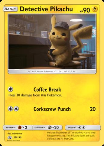 Detective Pikachu - SM190 - SM Black Star Promo