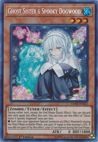 Ghost Sister & Spooky Dogwood - DANE-EN025 - Secret Rare - 1st Edition