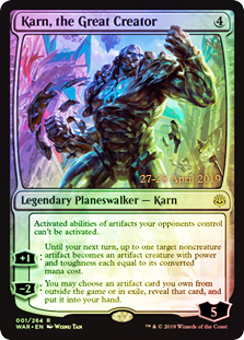 Karn, the Great Creator - Foil - Prerelease Promo