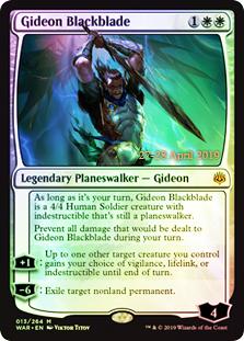 Gideon Blackblade - Foil - Prerelease Promo