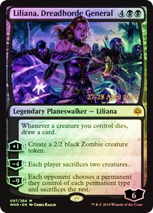 Liliana, Dreadhorde General - Foil - Prerelease Promo