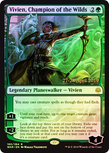 Vivien, Champion of the Wilds - Foil - Prerelease Promo