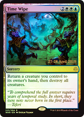 Time Wipe - Prerelease Promo War of the Spark FOIL