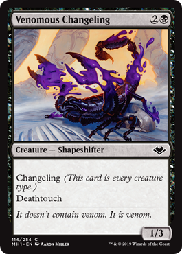 Venomous Changeling - Foil