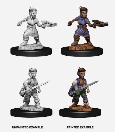 Pathfinder Battles Unpainted Minis - Female Halfling Rogue (2)