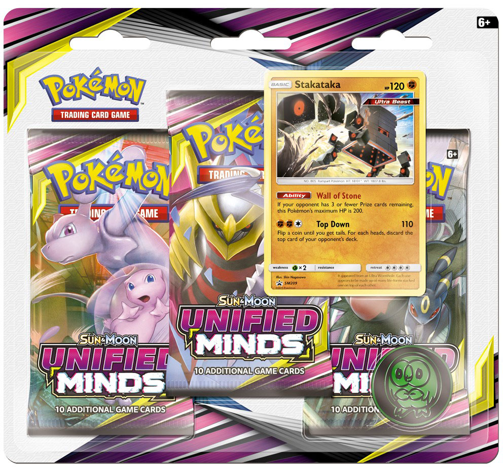 Sun & Moon - Unified Minds 3 Pack Blister - Stakataka