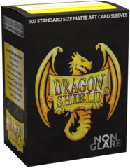 Dragon Shield Sleeves: 20th Anniversary Matte Black Non-Glare Iconic Art (Box Of 100)