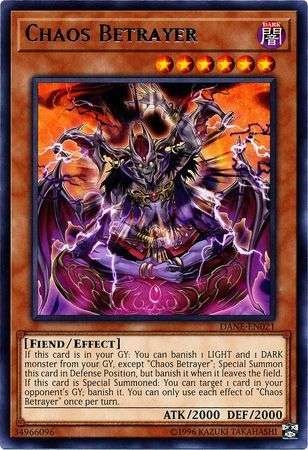 Chaos Betrayer - DANE-EN021 - Rare - Unlimited Edition