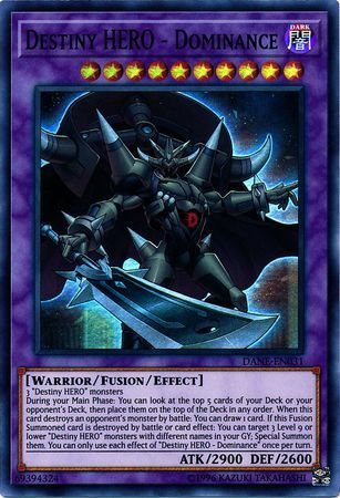 Destiny HERO - Dominance - DANE-EN031 - Super Rare - Unlimited Edition