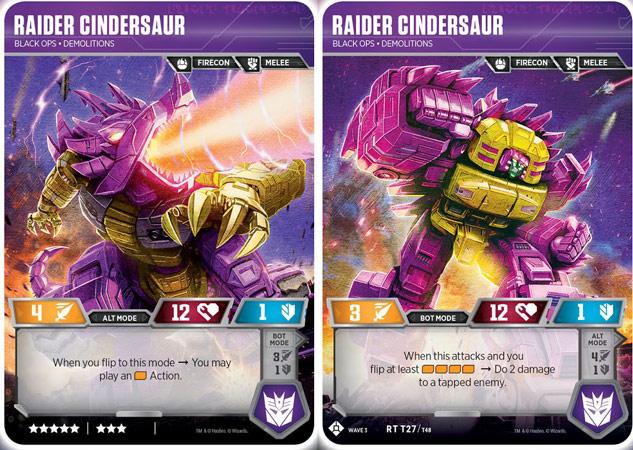 Raider Cindersaur // Black Ops Demolitions