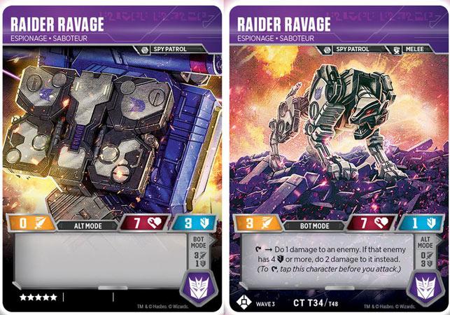 Raider Ravage // Espionage Saboteur