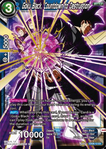 Goku Black, Countdown to Destruction - EX06-12 - EX - Foil