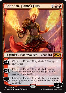 Chandra, Flames Fury - Foil Planeswalker Deck Exclusive