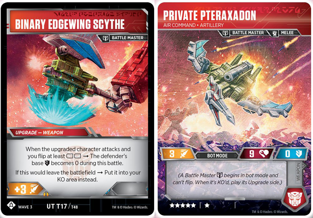 Private Pteraxadon // Air Command Artillery // Binary Edgewing Scythe
