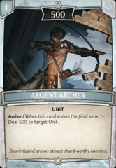 Argent Archer - Foil on Channel Fireball
