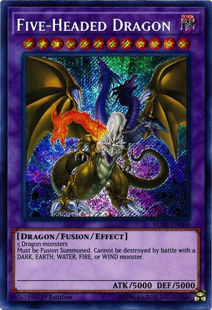 Five-Headed Dragon - BLHR-EN000 - Secret Rare - 1st Edition