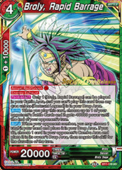 Broly, Rapid Barrage - BT7-116 - UC - Pre-release (Assault of the Saiyans)