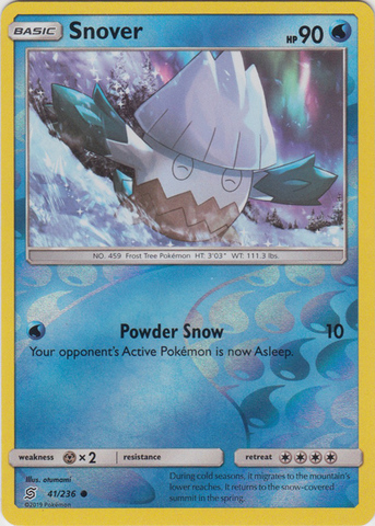 Snover - 41/236 - Common - Reverse Holo