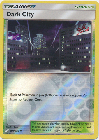 Dark City - 193/236 - Uncommon - Reverse Holo