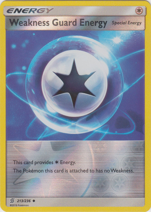 Weakness Guard Energy - 213/236 - Uncommon - Reverse Holo