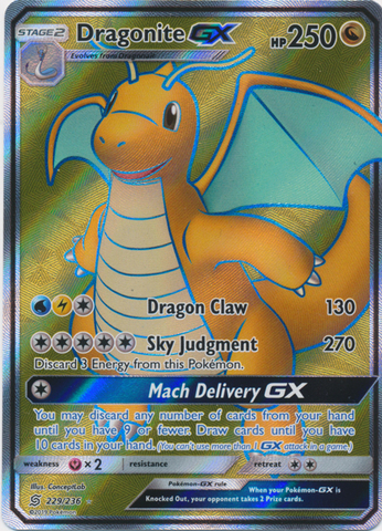 Dragonite GX - 229/236 - Full Art Ultra Rare