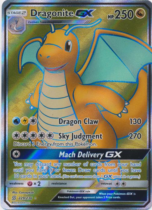 Dragonite GX - 229/236 - Full Art Ultra Rare